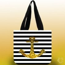 #Anchor #Gold #Bling #Tote #Bags #more #perfect #and #beautiful #appearance #comfortable #look #stylish #funny #awesome