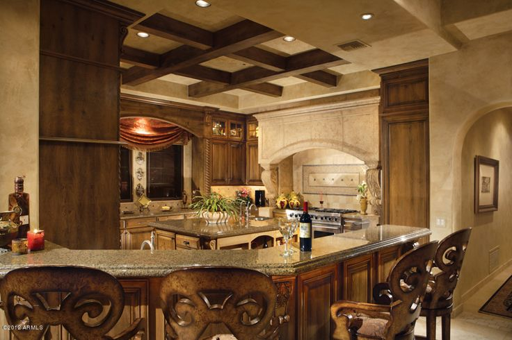 56 best tuscan kitchens decor images on pinterest for Elegant residences kitchens