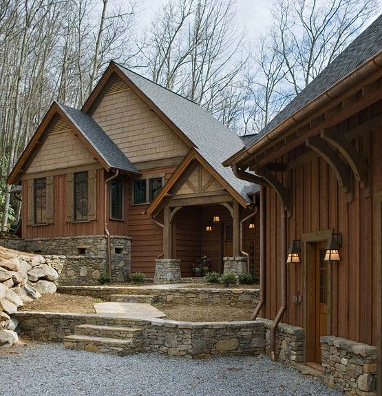 Best 25 rustic home exteriors ideas on pinterest build - Rustic home exterior color schemes ...