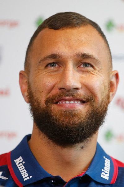 Quade Cooper Photos Photos - Quade Cooper speaks to media during a Queensland Reds media opportunity at Ballymore Stadium on September 1, 2016 in Brisbane, Australia. - Queensland Reds Player Signing Announcement