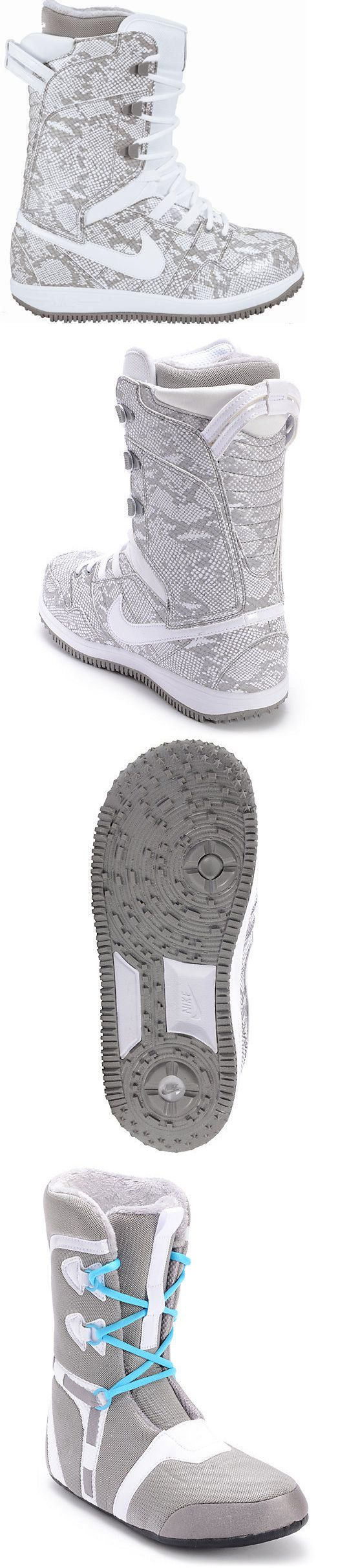 Boots 36292: Nike Vapen Snakeskin Grey And White Size 6.5 Womens Snowboard Boots BUY IT NOW ONLY: $132.05