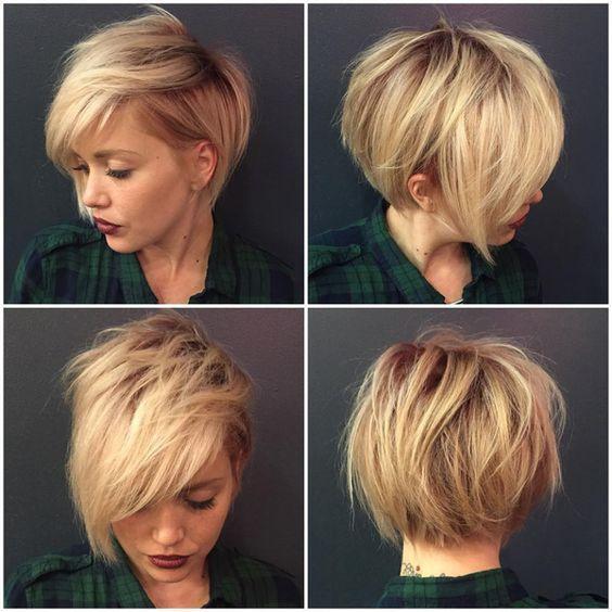 40 Super Niedliche Kurze Frisuren Für Rundes Gesicht #Frisuren
