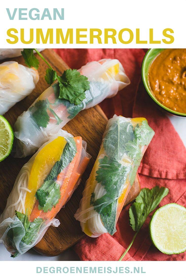 Maak ook deze heerlijke vegan summerrolls. Vul de rijstvellen met alles wat je maar wilt en zijn een super lekkere, lichte snack of maaltijd.