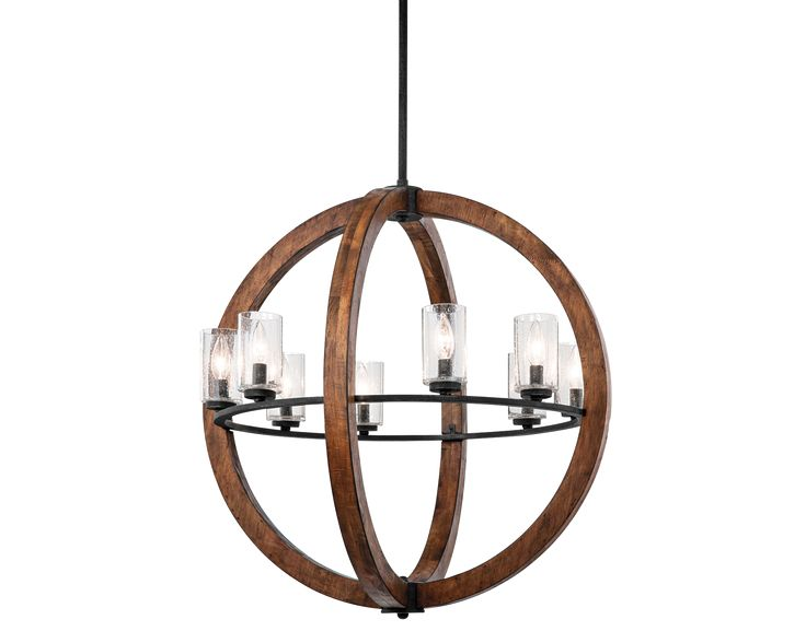 Off grand bank eight light auburn stained finish pendant by kichler grand bank eight light auburn stained finish pendant bulbs not included