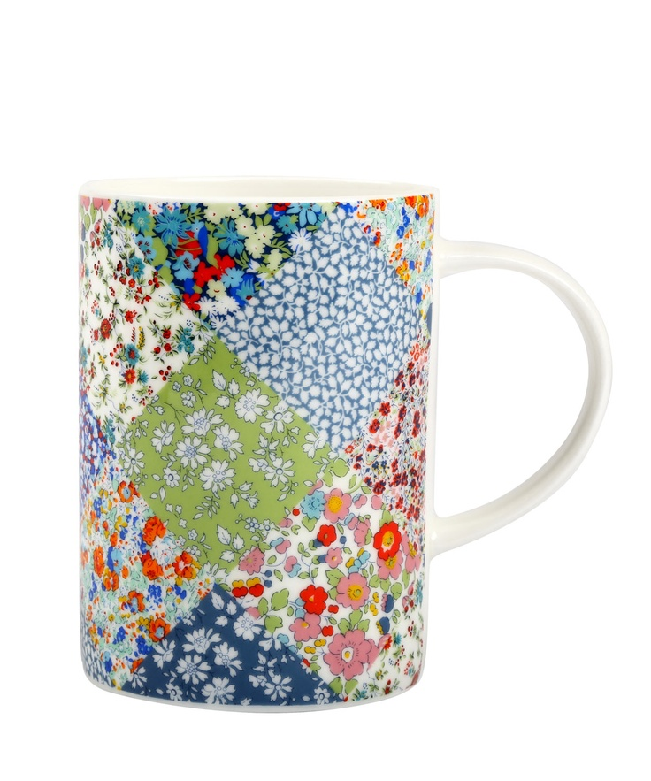 Multi Coloured Floral Patchwork Mug from the Liberty London collection.