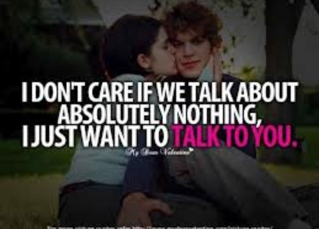 I just want to talk to him! (: