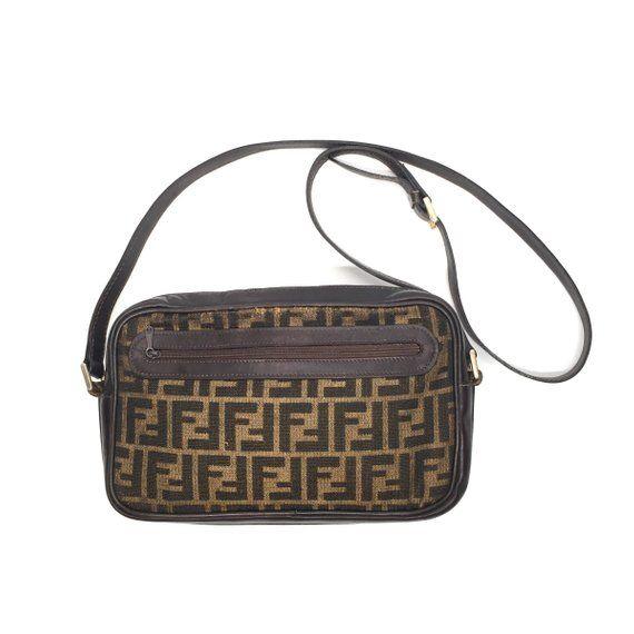 Authentic Vintage Fendi Zucca Crossbody Bag Fendi Bags Crossbody Bag