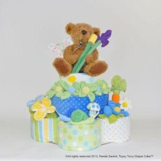 Basic 2 & 3 Layer Diaper Cake | YouCanMakeThis.com