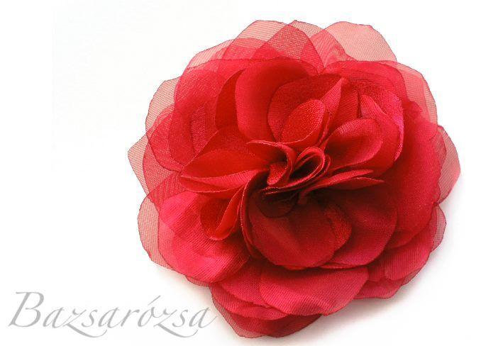 virág, piros, Bazsarózsa, kitűző