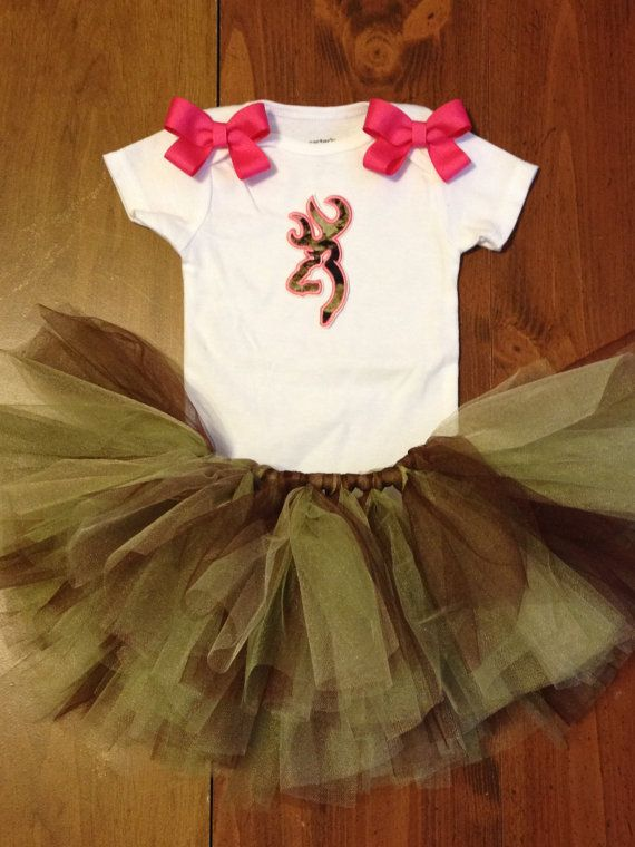 Camo browning tutu set 2t4t by PaisleyBows on Etsy, $50.00