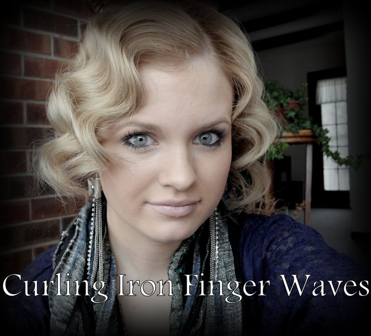 Finger Waves With A Curling Iron- BEST video I have seen actually- quick and eeasy!