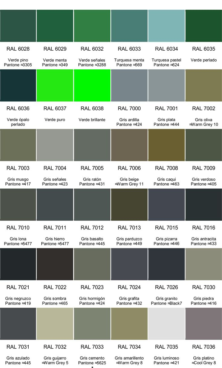 17 mejores ideas sobre carta de colores ral en pinterest for Paleta de grises para paredes