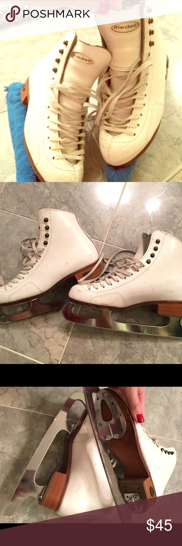 """💥SALE💥GIRLS """"RIEDELL"""" ICE SKATES! USED, DECENT CONDITION GIRLS ICE SKATES Riedell Shoes Rain & Snow Boots"""