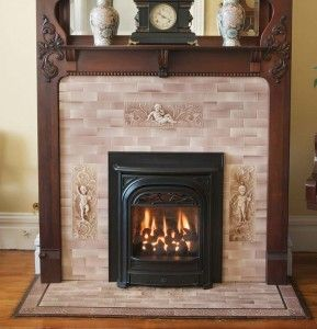 This gas insert from Valor looks like an authentic Victorian coal-burning fireplace.