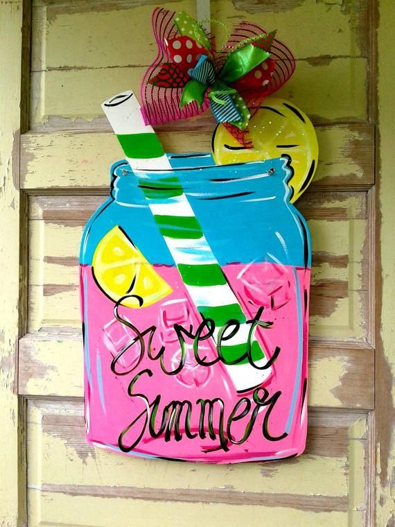 Pink Lemonade Leonade Decor Lemons Lemon Wreath Wooden Wraeth Summer Wreath Summer