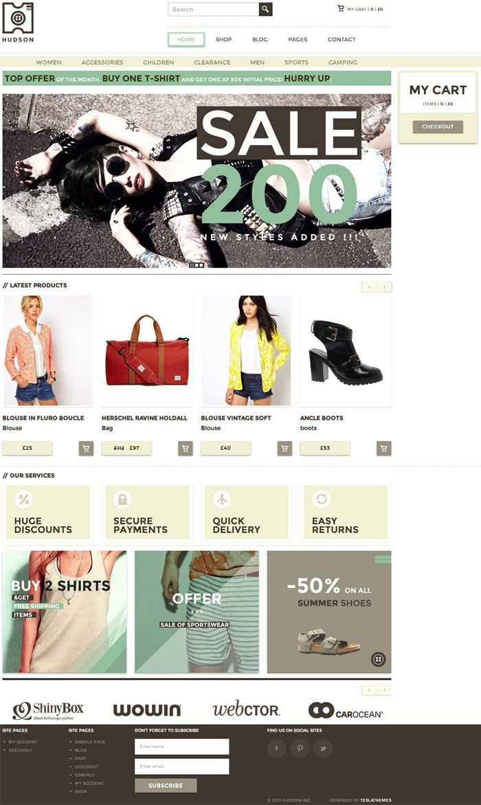 Hudson – Best WordPress Theme for Blog, eShop, Online Catalog, eCommerce Portal