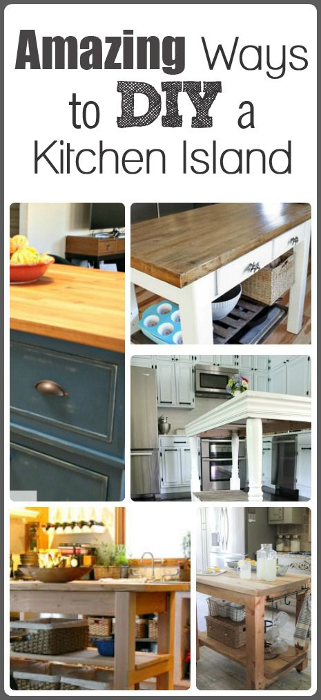 Kitchen Island Make It Yourself Save Big: 17 Best Images About Kitchen Island On Pinterest