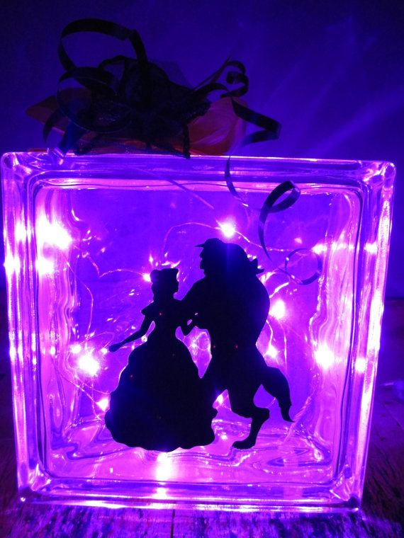 Personalised lamp, beauty and the beast lamp custom made ...