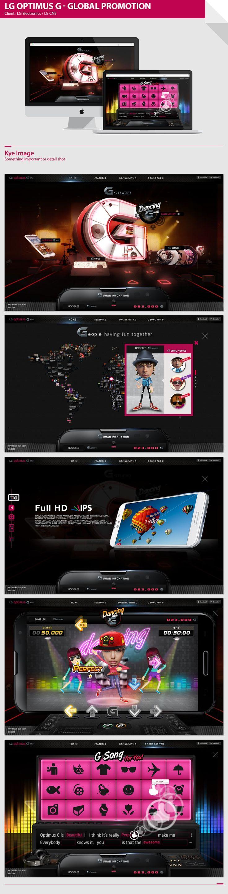 LG OPTIMUS G Promotion microsite