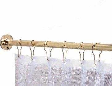 Shower Curtain Rods Solid Brass 6' long brass Shower Curtain Rod | 97306 transitional-shower-curtain-rods