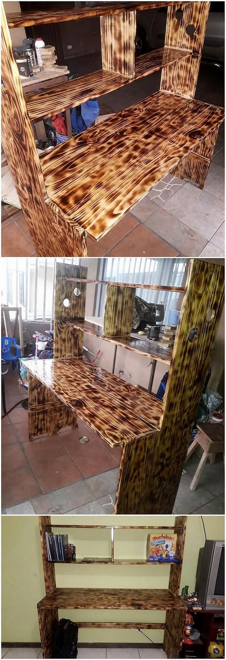 Let's check out with this awesome pallet study table piece that would additionally make you offer out with the access of the functional images. This study table has been all set with the textured impact right inside it that is on the whole bringing together with much modern outlook appearances.