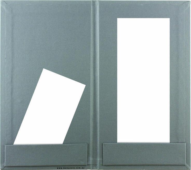 Bill Presenter   Grey Buckram - 2 Strip Pockets