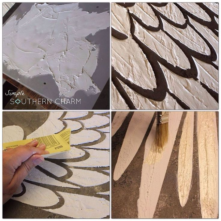 How to make raised relief stenciled angel