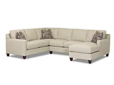 Shop For Klaussner Fuller Sectional W Chopper Fabric And Other Living Room Sectionals At Home Furnishings In Asheboro North Carolina