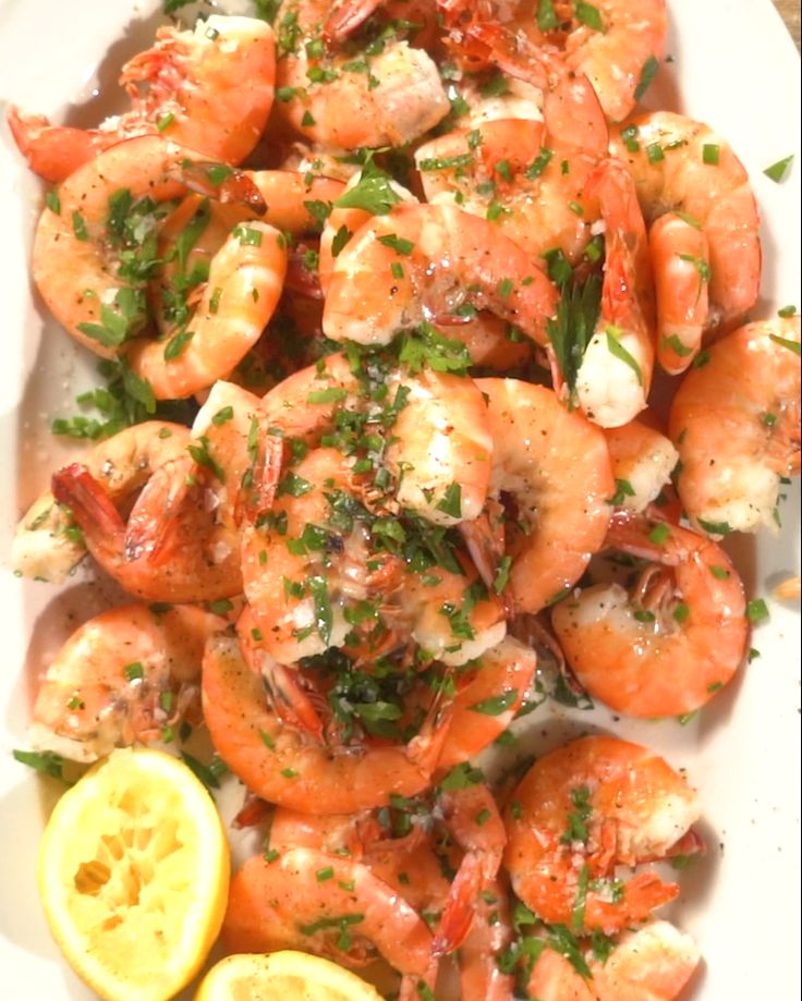 Peel and Eat Shrimp with Butter and Herbs