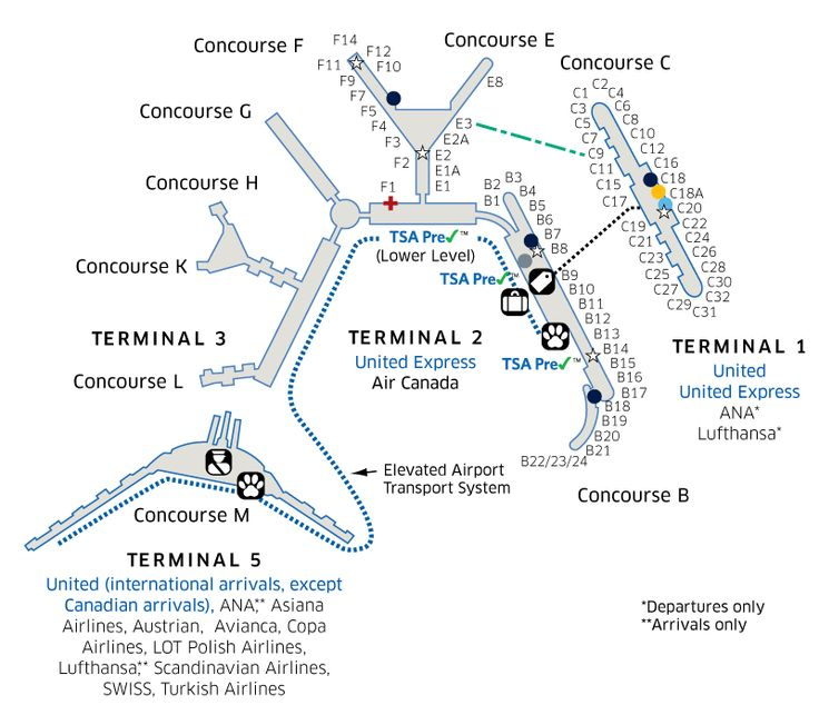 Chicago O Hare International Ord Airport Map Travel