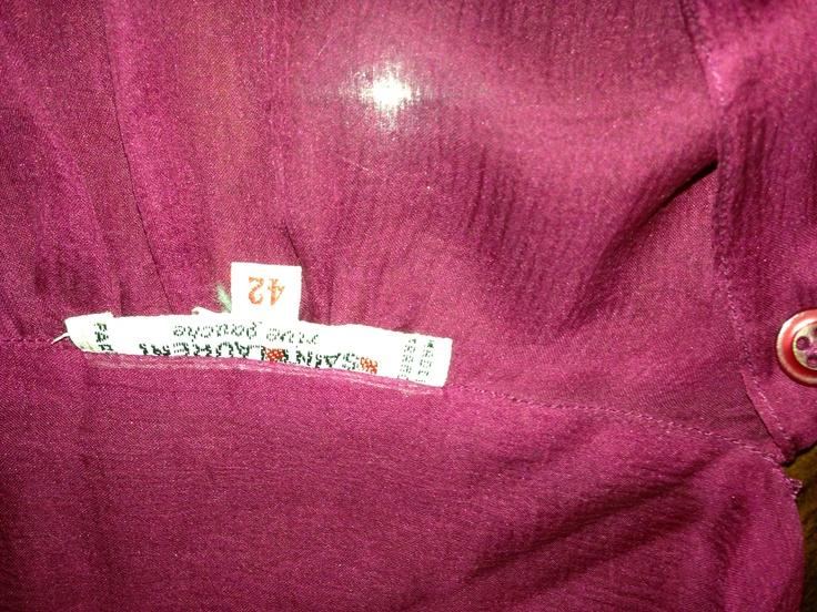 Purple red Yves St Laurent chiffon