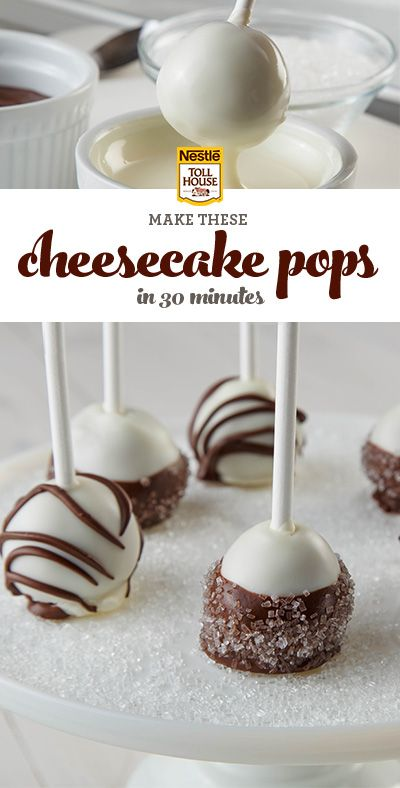 Cheesecake. Covered in chocolate. On a stick. In just 30 minutes. Learn how to make this irresistible Nestle Toll House dessert in a few simple steps.                                                                                                                                                      More