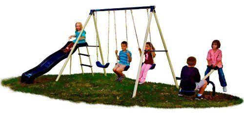 """Flexible Flyer """"Triple Fun""""  Swing Set"""