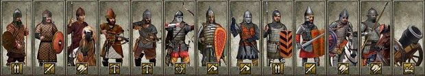 Unit Cards for the additional Rus units. (And the Mortar)