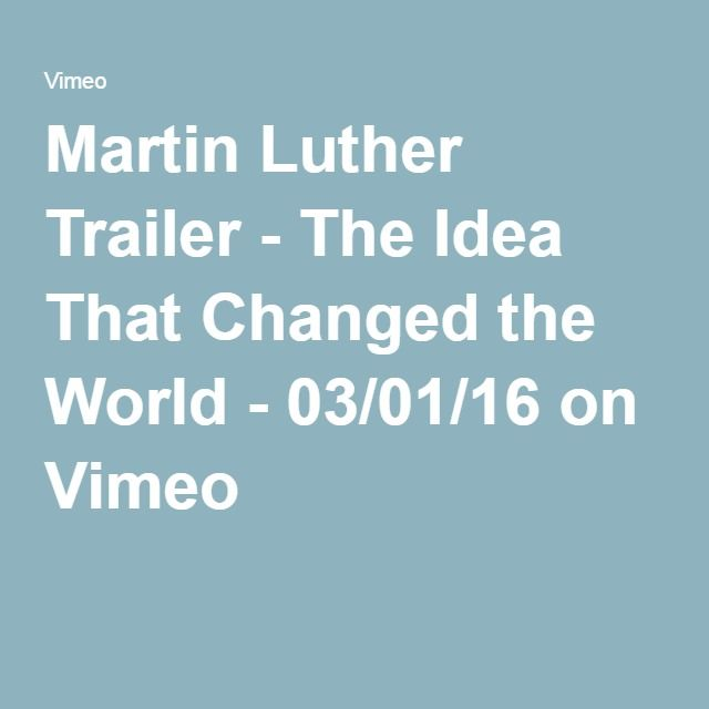 Martin Luther Trailer - The Idea That Changed the World - 03/01/16 on Vimeo
