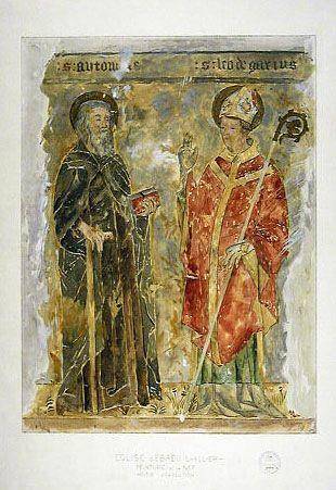 Fresque à l'Église Abbatiale Saint-Léger Ebreuil