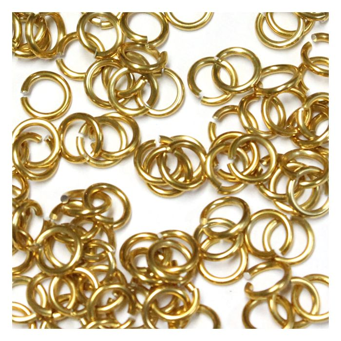 5mm (3/16 Inch) Gold Anodized Aluminum Jump Rings