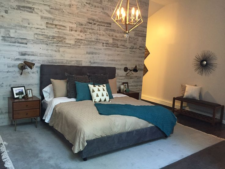 17 best ideas about wood feature walls on pinterest plank walls wallpaper feature walls and for Property brothers bedroom ideas