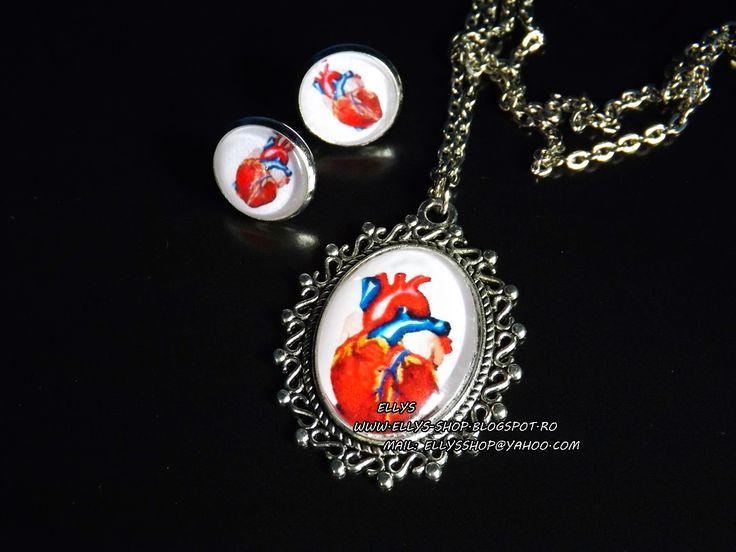 Ellys Shop: Colier si cercei realizati la comanda imagine inim...
