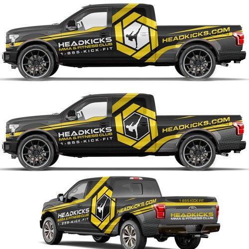 Bold truck wrap for Head kicks fitness