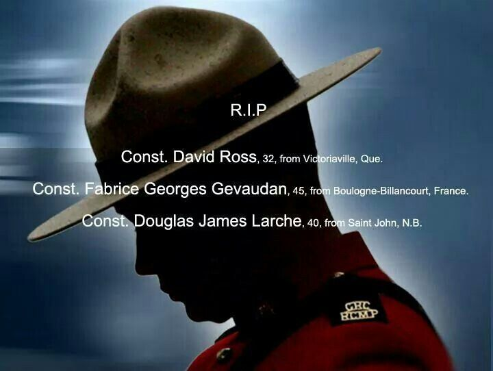 RCMP killed in line of duty.....