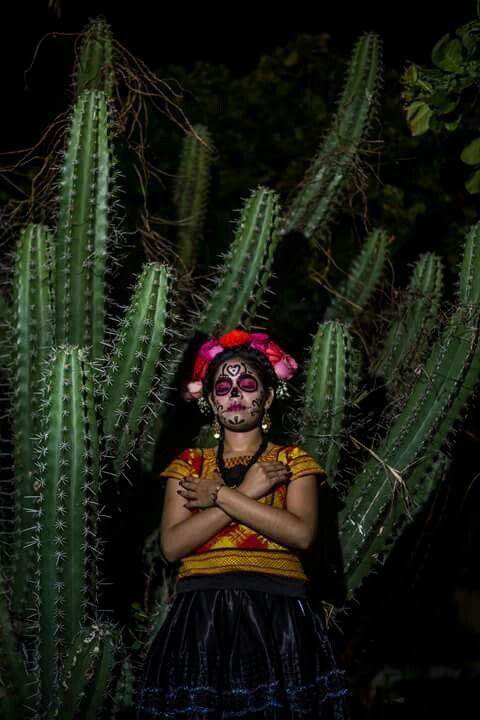 Dia de muertos maquillaje oaxaca mexico 2015