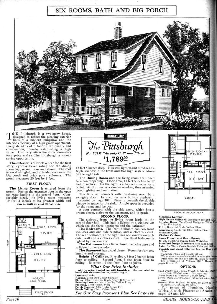 Craftsman Homes Sears Catalog House Vintage Plans