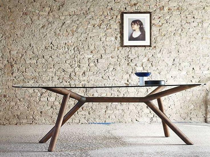 Glass table OTTO by Miniforms | design Paolo Cappello