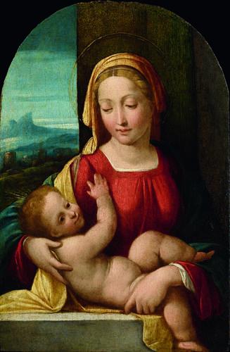 Garofalo (Benvenuto Tisi detto) - Madonna con Bambino -1525-1530 - Accademia Carrara di Bergamo Pinacoteca