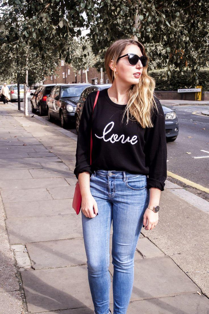 Autumn Fashion: Hush Love Jumper, Lou & Grey Jeans, Dune Loafers, Neubau Eyewear Sunglasses, Aurora London Bag | Wolf & Stag