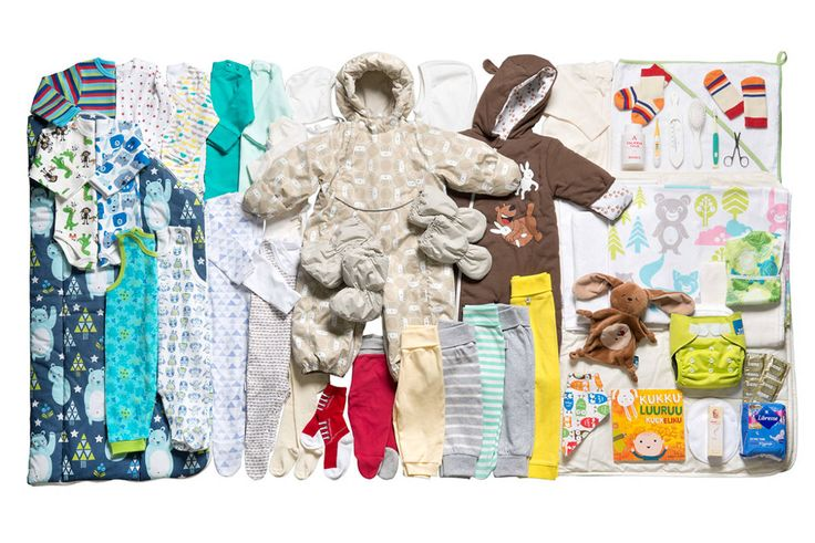 "Look at this ""mothernity aid box"" they have invented in Finland. They give this package of all kinds of baby stuff to all the expectant mothers for free!!!"