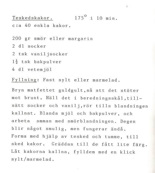 Teskedskakor - en svensk klassiker - www.hyperbrain.me