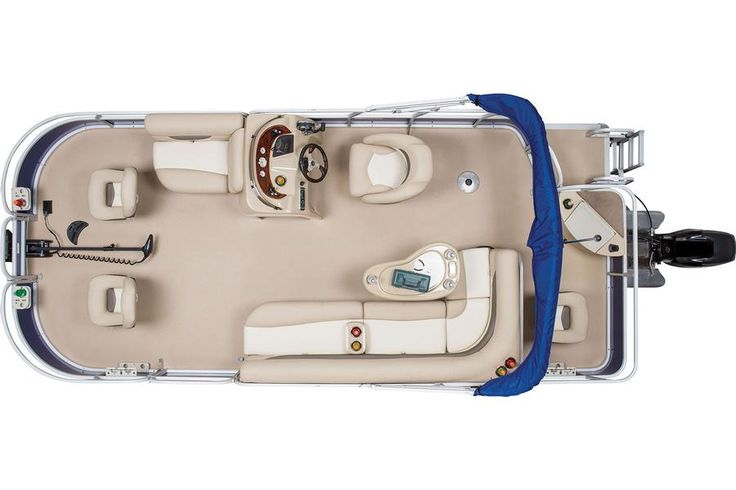 2014 Sun Tracker® Fishin' Barge 20 DLX - Top View w/Closed Compartments #features #SunTracker #fishing http://www.exclusiveautomarine.com/product/fishin-barge-20-dlx