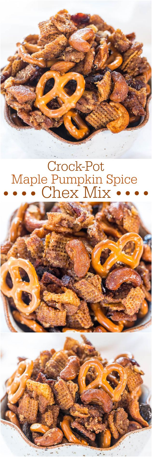 Crock-Pot Maple Pumpkin Spice Chex Mix - Loaded with fall flavors and made in a…